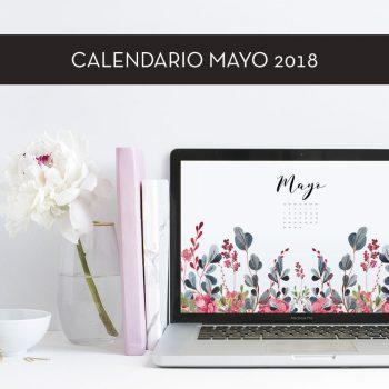 Calendario descargable de mayo de 2018