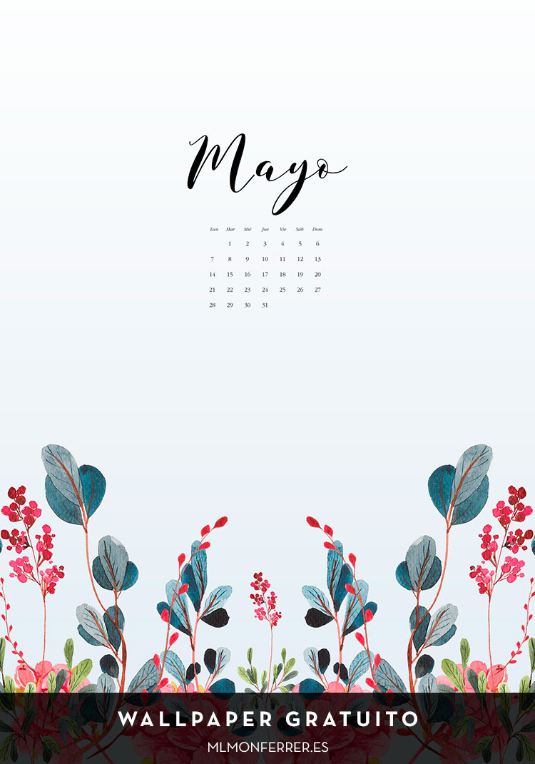 Wallpaper gratuito   Calendario de  mayo