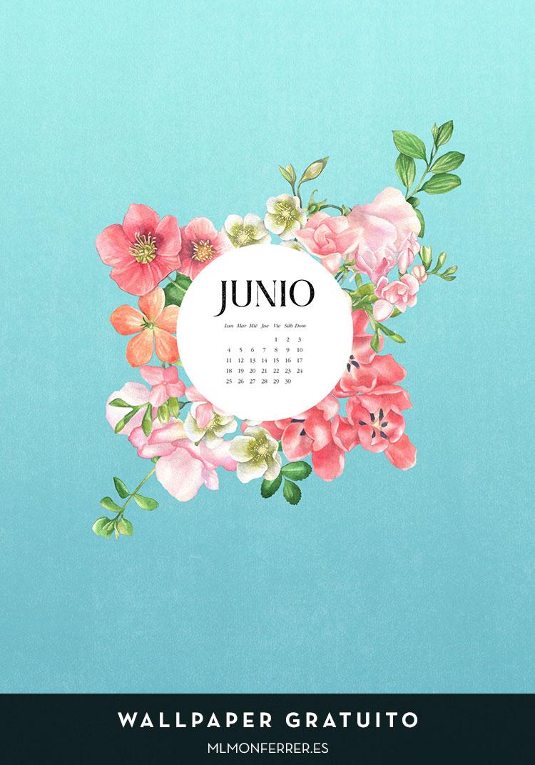 Wallpaper gratuito | Calendario de junio