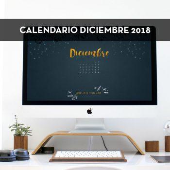 Calendario descargable de diciembre de 2018