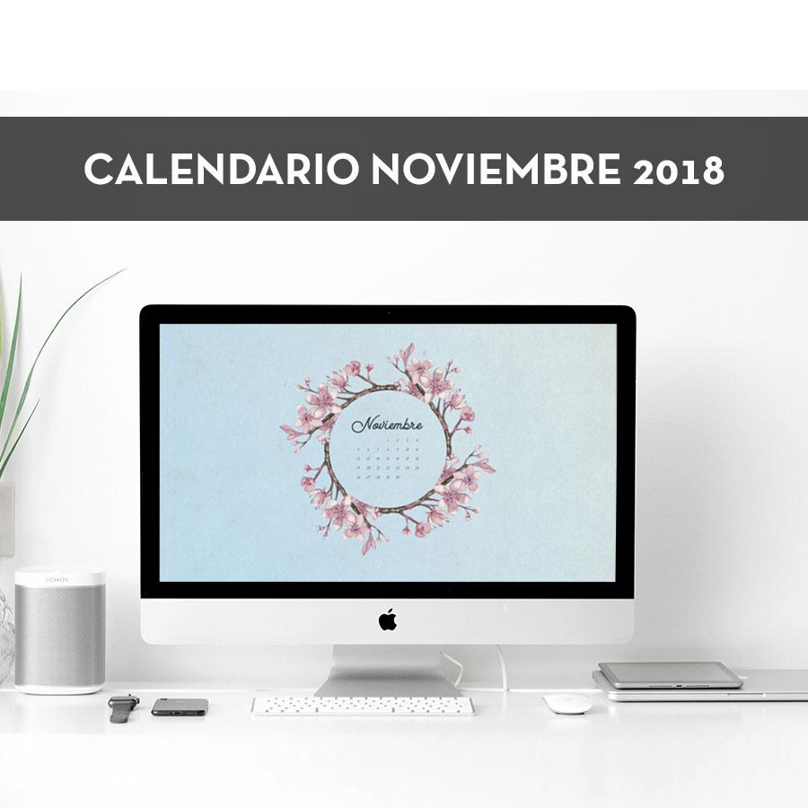 Calendario descargable de noviembre 2018